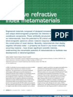 Negative Refractive Index Met a Materials