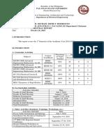 Semestral Report - 1st Sem, SY 2018-2019