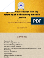 Synthesis Gas Production from Dry Reforming of Methane using Bimetallic Catalysts