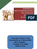 Desarrollo de La Comunicación en Adolescentes 2018