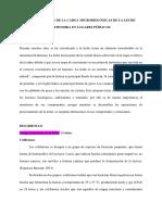 Determinación de La Carga Microbiológicas de La Leche Expendida en Lugares Públicos