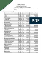 BILL OF MATERIAL (PEMBANGUNAN INSTALASI SISTEM PEMBANGKITAN LISTRIK TENAGA HYBRID (PANEL SURYA DAN TURBIN ANGIN) DENGAN SISTEM AUTOMATIC TRANSFER SWITCH DI ROOFTOP PERUMAHAN)