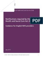 Statutory Notifications for Nhs Bodies - Provider Guidance v6