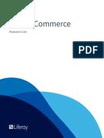 Liferay Commerce Features List