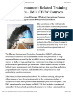 STCW Environment Related Training for Seafarers - IMO STCW Courses