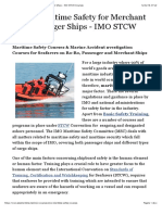 STCW Maritime Safety for Merchant and Passenger Ships - IMO STCW Courses