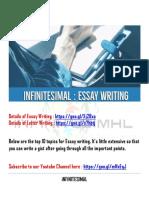 Essay by Infinitesimal
