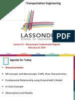 CIVL 3250 W 2019 - 16 -Macroscopic Fundamental Diagram (1)