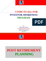 Post Retirement Savings Schemes(1)