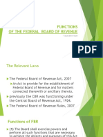 Functions of the Federal Board of Revenue