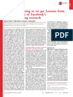 Big Data Issues Lessons From FB Study