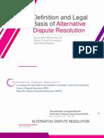 Pengertian Alternatif Penyelesaian sengketa