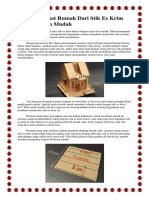 Cara Membuat Rumah Dari Stik Es Krim Bekas Dengan Mudah