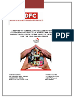 Project Reports on Comparative Analysis of Housing loan Schemes of HDFC Ltd_153135237.doc