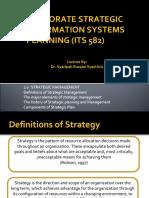 Topic 1 - Strategic Management