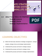 Topic 2 - Analytical Tools in Strategic Management