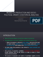 Modes of Production and Political Order