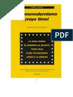 Andrade, Gabriel - El postmodernismo ¡vaya timo! (Prólogo, Mario Bunge).pdf · versión 1.pdf