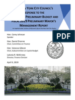 Fiscal 2020 Preliminary Budget Response FINAL