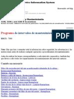Programa de Intervalos de Mantenimiento de Excavadoras Caterpillar 320B y BL