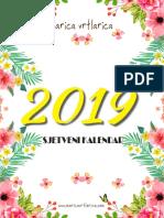 Sjetveni Kalendar 2019 Marica Vrtlarica