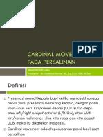 Cardinal Movement Pada Persalinan