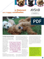 Avsab Puppy Socialization Position Statement Download - 10-3-14