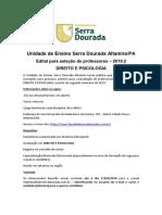 Anuncio de Vagas Para Docentes - Direito e Psicologia 2019.2