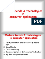 Modern Trends in Computer Application