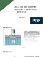 Clase No 8 .Cálculo de Capacidad Portante en Cimentaciones Superficiales - Ejemplo