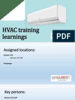 HVAC Training Learnings