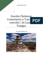 Gueshe Chekawa Comentario a Las Ocho Estrofas, De Langri Tangpa.