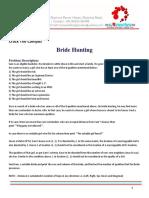 CTC BrideHunting Problem