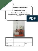 Lab 09 Funciones Básicas de Instrumentación - Módulo de Nivel Por Presión