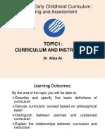 Topic 1 Curriculum and Instruction (HMEC5213)