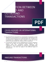 Inbound and Outbound Transactions
