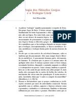 A Teologia Dos Filósofos Gregos e a Teologia Cristã (Artigo) 13pp.