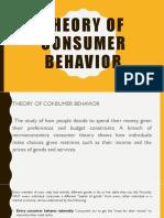 Theory of Consumer Behavior