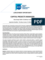 Capital Projects Manager Title and review.