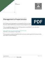 Hypertension Management of Hypertension