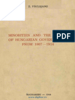 Minorities and the Policy of Hungarian Governments From 1867-1914