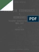 Evoluţia Economică a României Cercetări Statistico-Istorice 1859-1947 Volumul 1