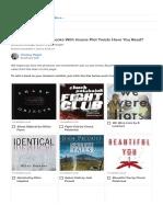 List of Novels with Plot Twists