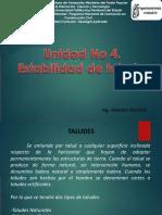 Unidad No 4. Estabilidad de Taludes