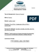 Tutorial Teste Rele Pextron URPE 7104T Sub Sobretensao CTC