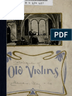Catalogue of Old Master Violins