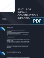 Status of Indian Construction Industry
