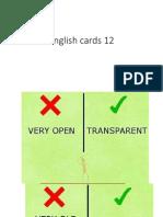 English Cards 12