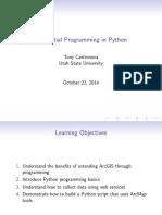 Geospatial Programming