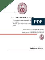 Taller 01 - Idea de negocio.pptx